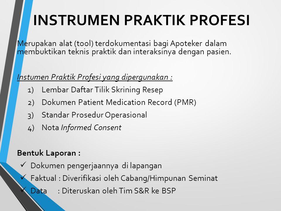 E.2.5. Laporan Kinerja Praktik Bidang Pelayanan Kefarmasian Rumah Sakit (Pelayanan Farmasi Klinis) No.Kegiatan Praktik Profesi Bukti Ada/Tidak Pelaksa