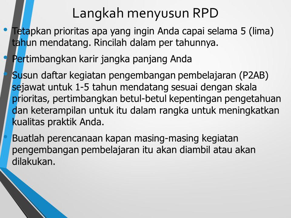 Langkah menyusun RPD Uraikan secara ringkas khususnya mengenai kesalahan, kekurangan, ketidakpuasan dalam menjalankan praktik sehingga Anda dapat mera