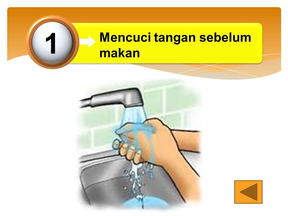 Mencuci tangan sebelum makan 1