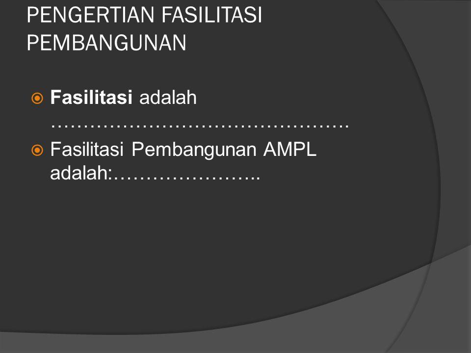 PENGERTIAN FASILITASI 1.