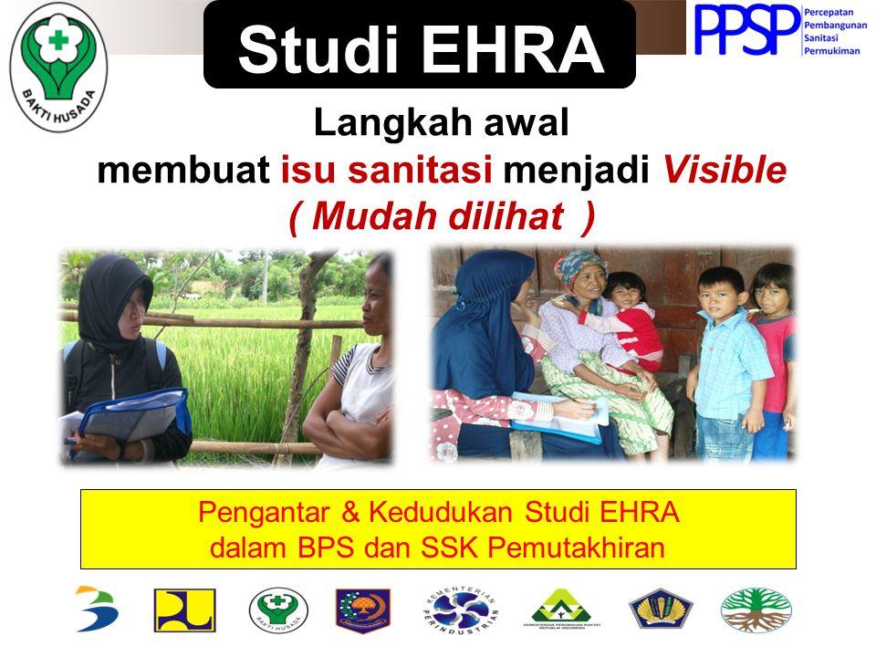 Pengantar & Kedudukan Studi EHRA dalam BPS dan SSK Pemutakhiran Studi EHRA Langkah awal membuat isu sanitasi menjadi Visible ( Mudah dilihat )