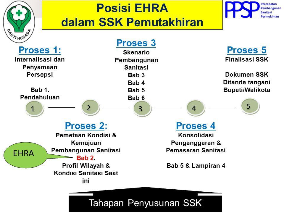 Posisi EHRA dalam SSK Pemutakhiran Proses 2: Pemetaan Kondisi & Kemajuan Pembangunan Sanitasi Bab 2. Profil Wilayah & Kondisi Sanitasi Saat ini Proses