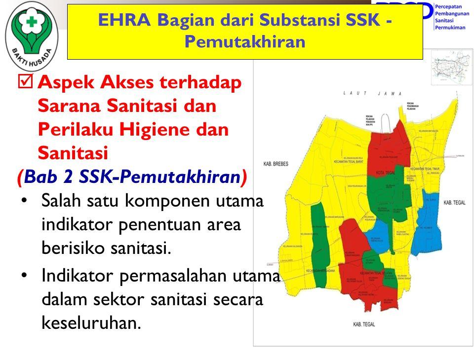 EHRA Bagian dari Substansi SSK - Pemutakhiran  Aspek Akses terhadap Sarana Sanitasi dan Perilaku Higiene dan Sanitasi (Bab 2 SSK-Pemutakhiran) Salah