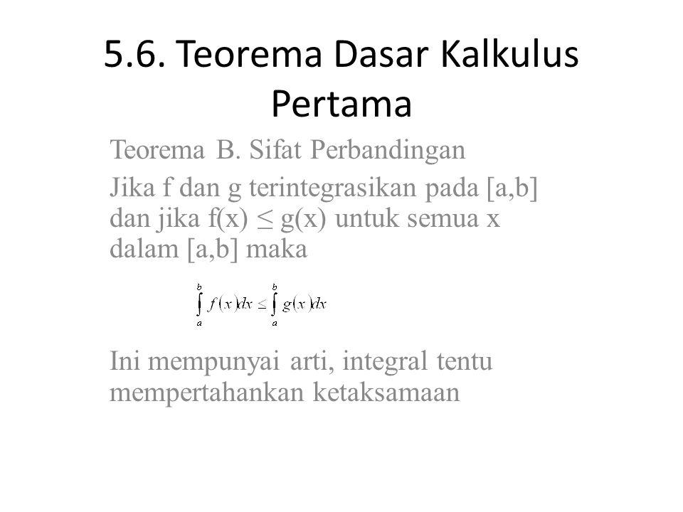 5.6.Teorema Dasar Kalkulus Pertama Teorema C.