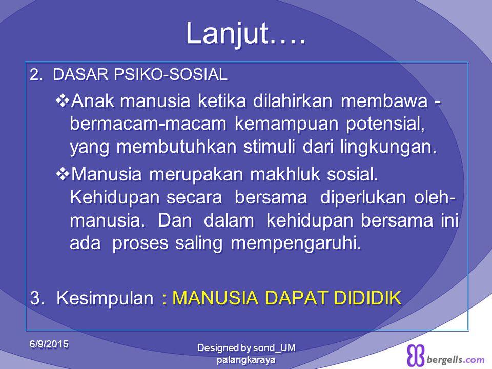 MUNGKINKAH MANUSIA DIDIDIK.1.