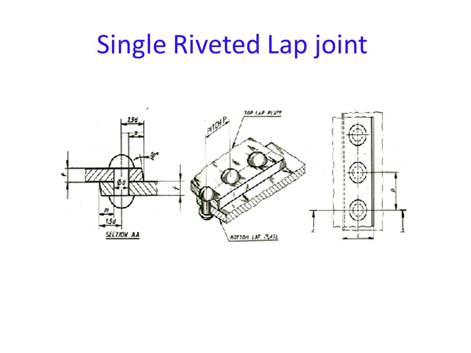 Single Riveted Lap joint
