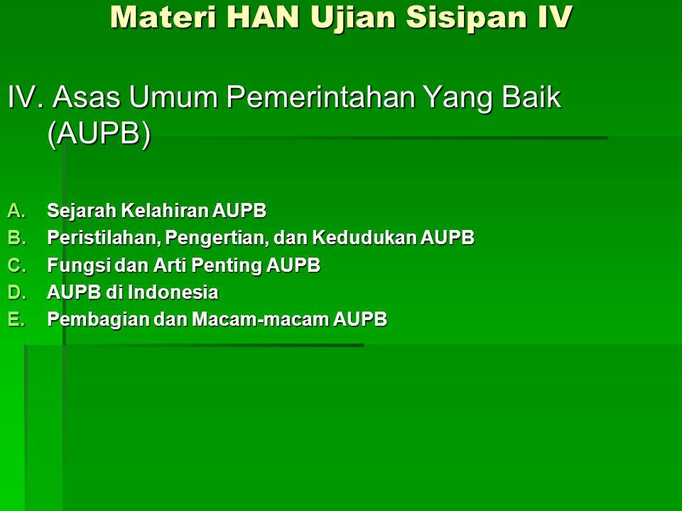 Materi HAN Ujian Sisipan IV IV.