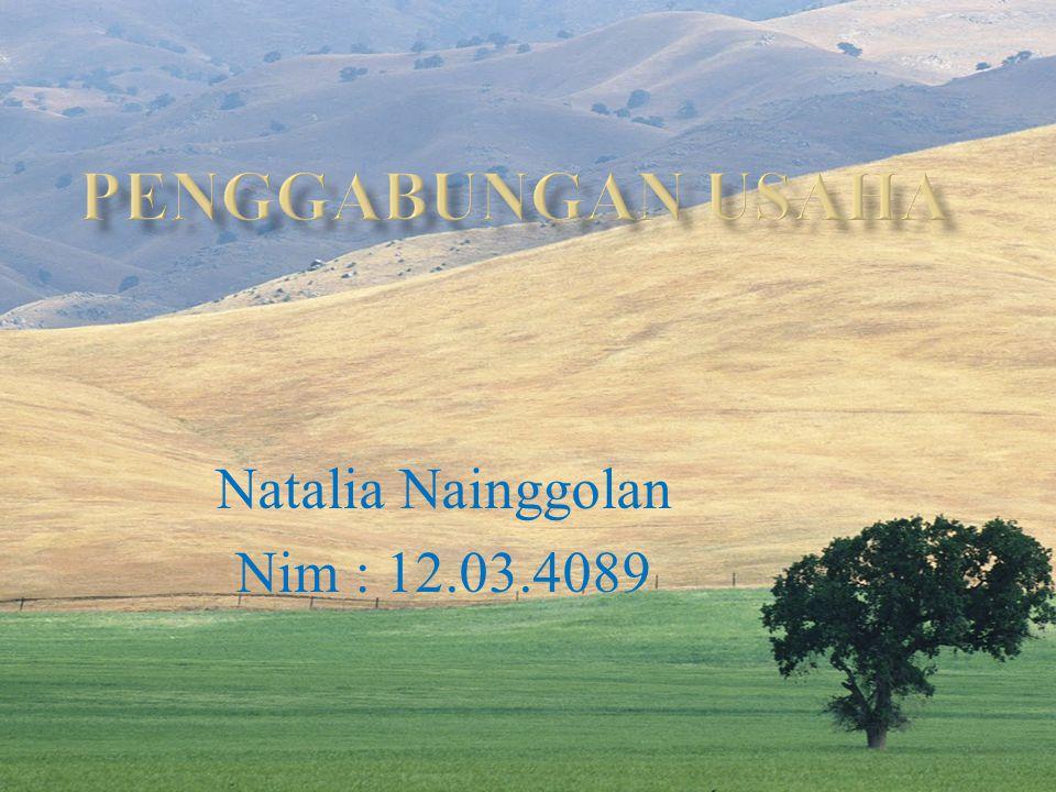 Natalia Nainggolan Nim : 12.03.4089