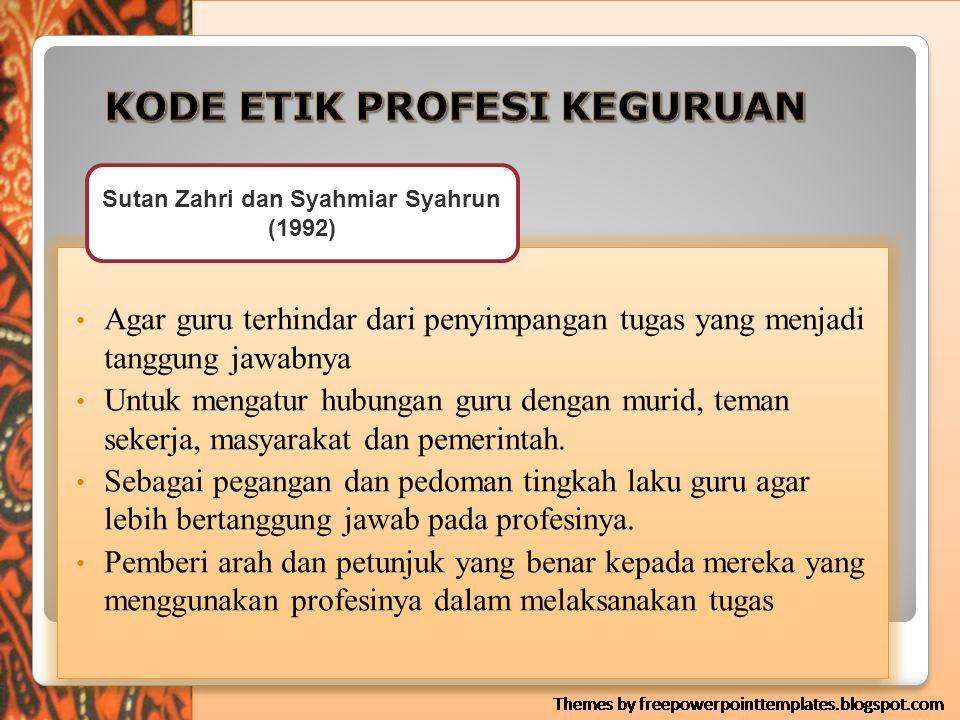 Alasan Pentingnya Kode Etik Bagi Guru  Untuk melindungi pekerjaan sesuai dengan ketentuan dan kebijakan yang telah ditetapkan berdasarkan perundangan-undangan yang berlaku.