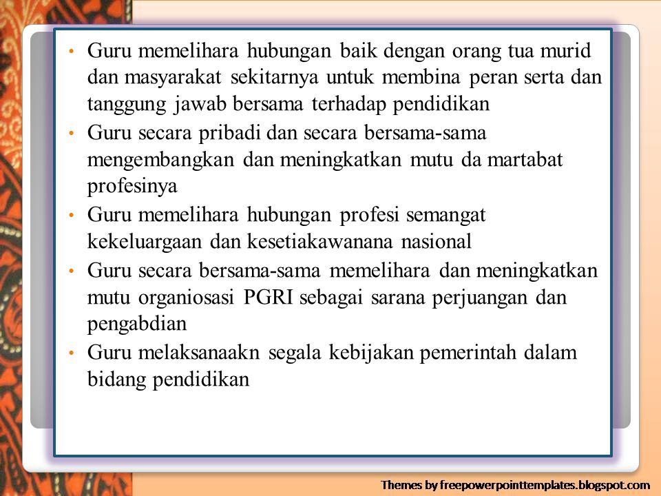 IKRAR GURU INDONESIA 1.