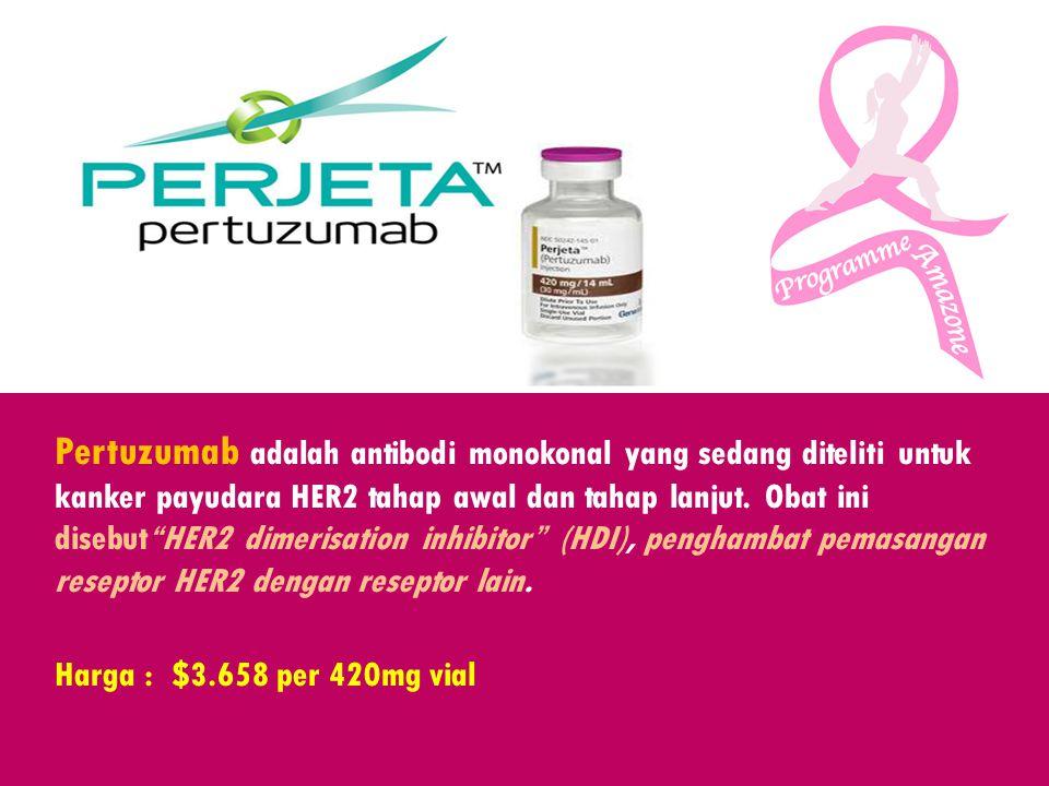 Pertuzumab adalah antibodi monokonal yang sedang diteliti untuk kanker payudara HER2 tahap awal dan tahap lanjut.