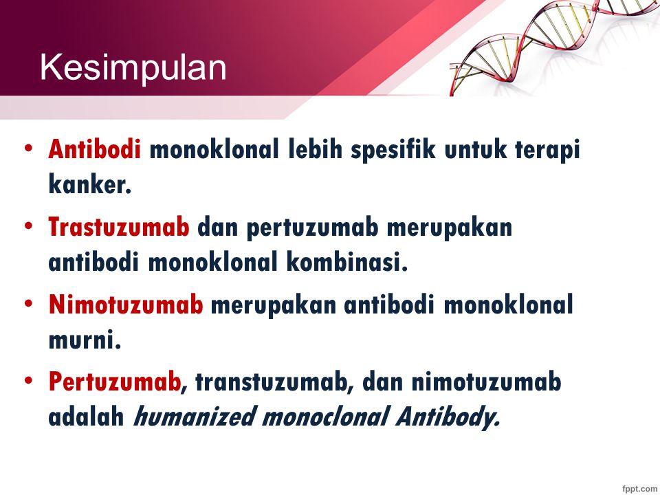 Kesimpulan Antibodi monoklonal lebih spesifik untuk terapi kanker.