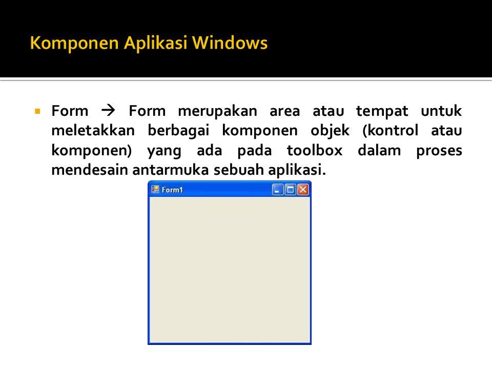  Contoh: Form Login: