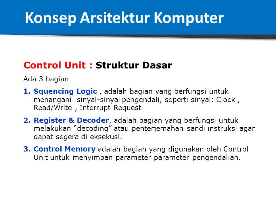 CPU : Diagram Struktur Dasar Konsep Arsitektur Komputer