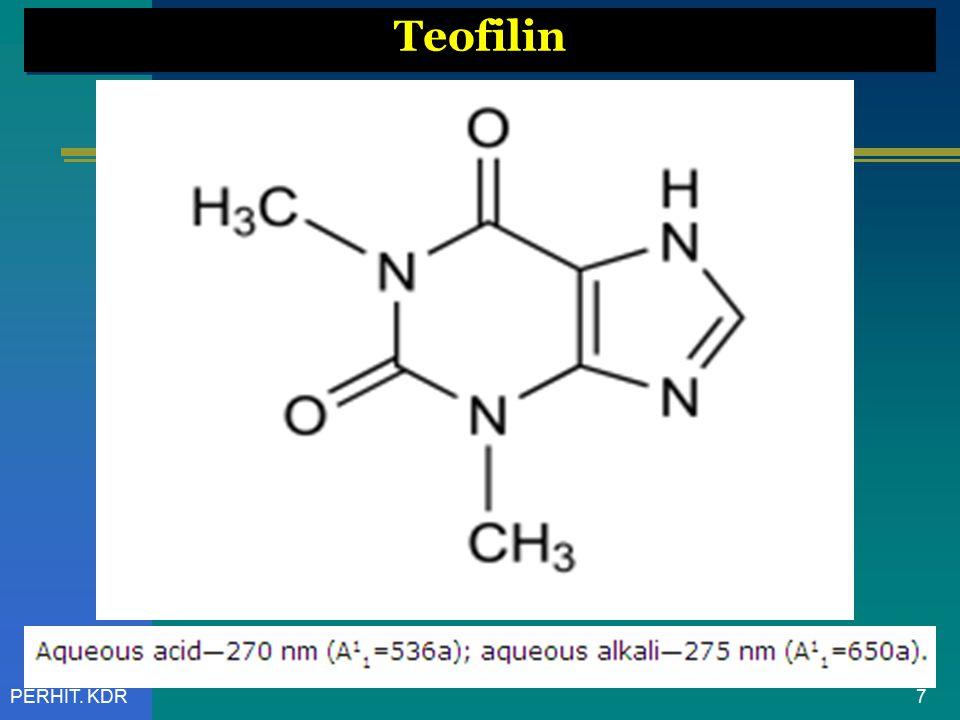 8PERHIT. KDR Teofilin [ UV Spektrum ]