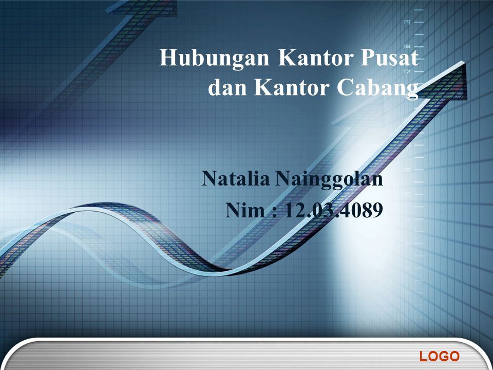 LOGO Natalia Nainggolan Nim : 12.03.4089 Hubungan Kantor Pusat dan Kantor Cabang