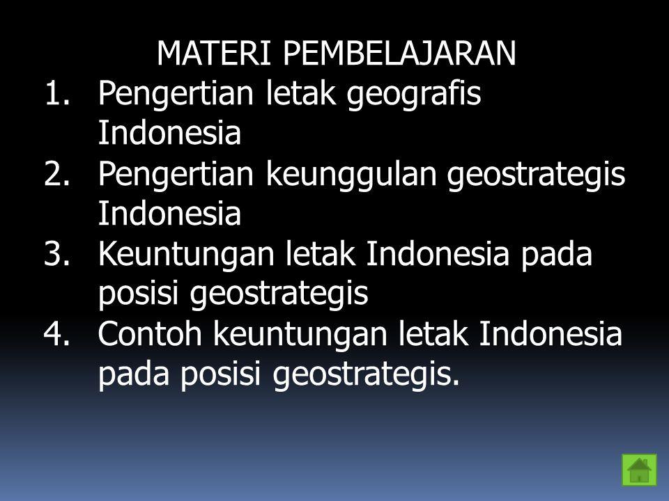 Soal : 1.Jelaskan pengertian dari letak geografis .