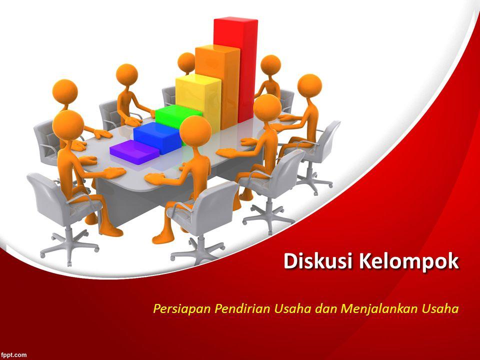 Diskusi Kelompok Persiapan Pendirian Usaha dan Menjalankan Usaha