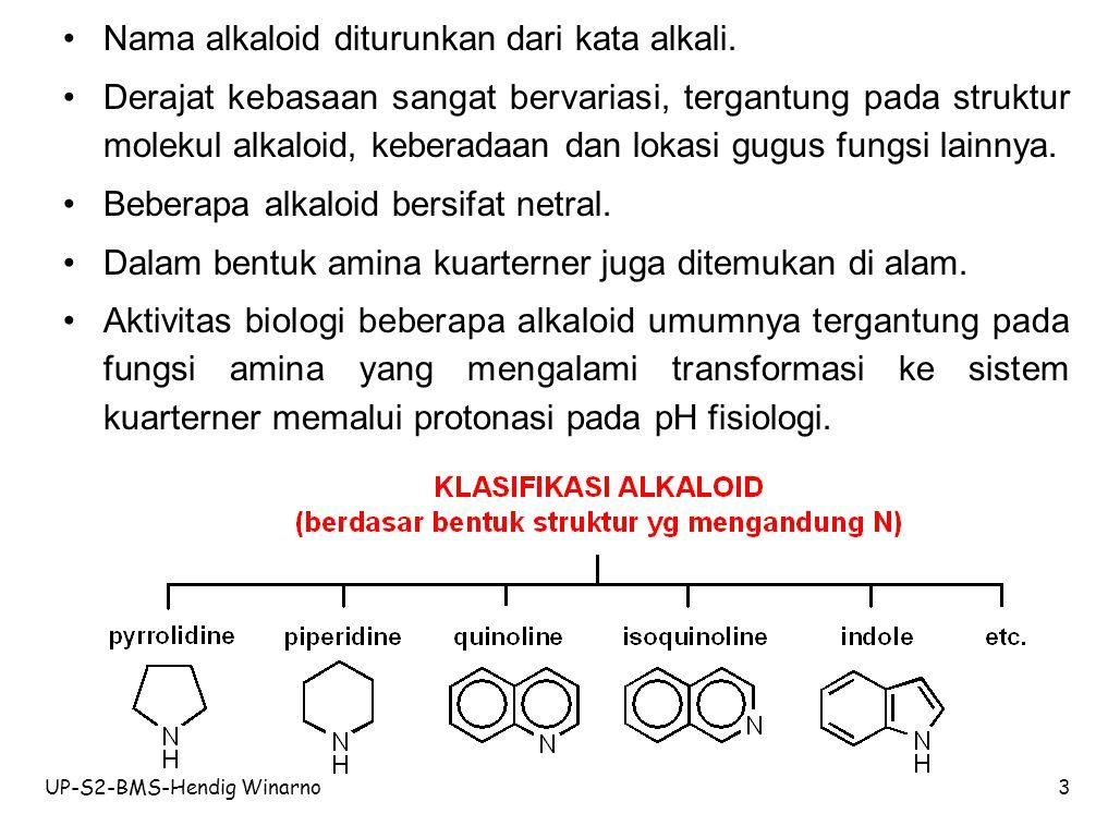 UP-S2-BMS-Hendig Winarno4 Beberapa prekursor asam amino yang terlibat dlm biosintesis alkaloid.