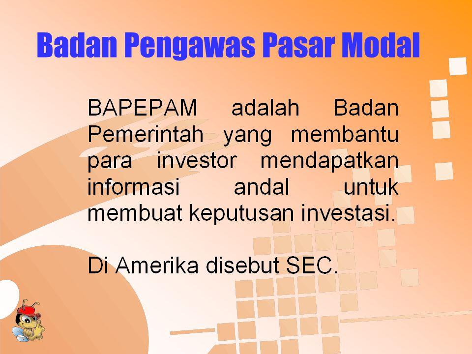 Badan Pengawas Pasar Modal