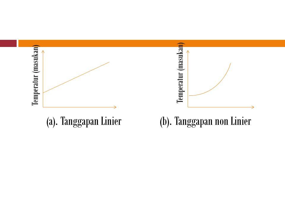 (a). Tanggapan Linier(b). Tanggapan non Linier Temperatur (masukan)