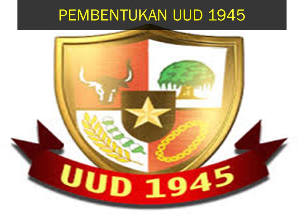 UUD 1945 merupakan acuan dasar dari kehidupan bangsa Indonesia Negara Republik Indonesia masih tergolong muda dalam barisan negara negara di dunia Tetapi bangsa Indonesia lahir dari sejarah dan kebudayaan yang tua, melalui kerajaan Sri Wijaya, Majapahit dan Mataram.