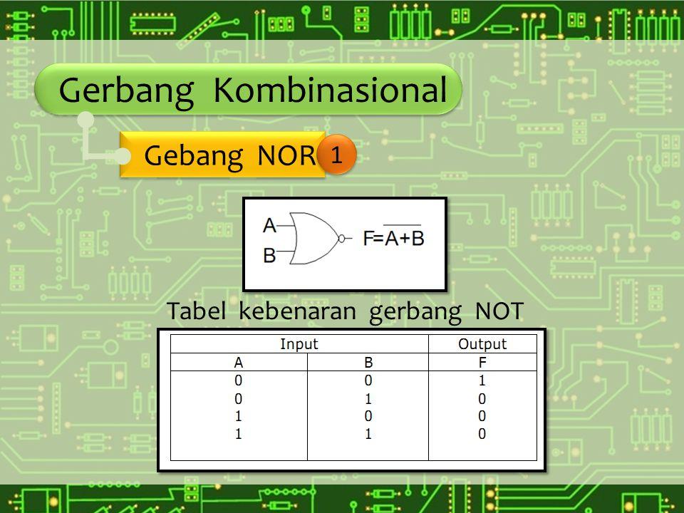 Gerbang Kombinasional Gebang NOR 1 Tabel kebenaran gerbang NOT
