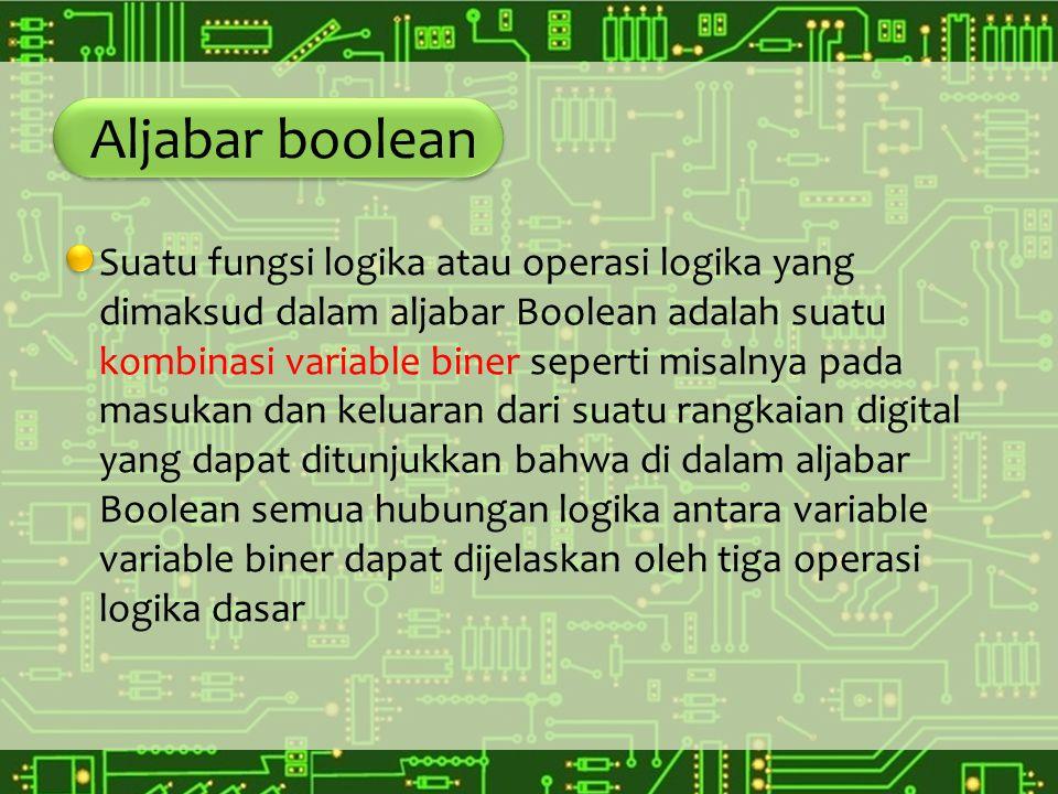 Aljabar boolean Notasi Boole