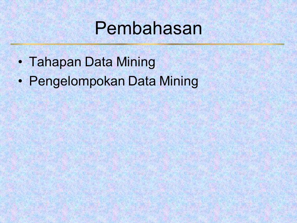 Tahapan Data Mining 1.