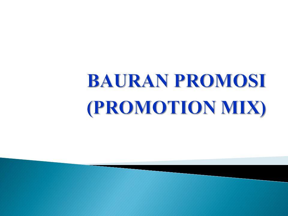 Jumlah Dana Yang Dipergunakan Untuk Promosi  Perusahaan yang memiliki dana lebih besar akan mampu membiayai penyelenggaraan promosi yang menggunakan lebih dari satu variabel bauran promosi.