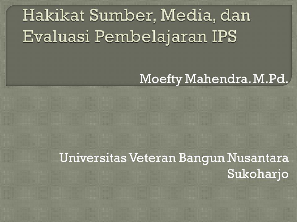 Moefty Mahendra. M.Pd. Universitas Veteran Bangun Nusantara Sukoharjo