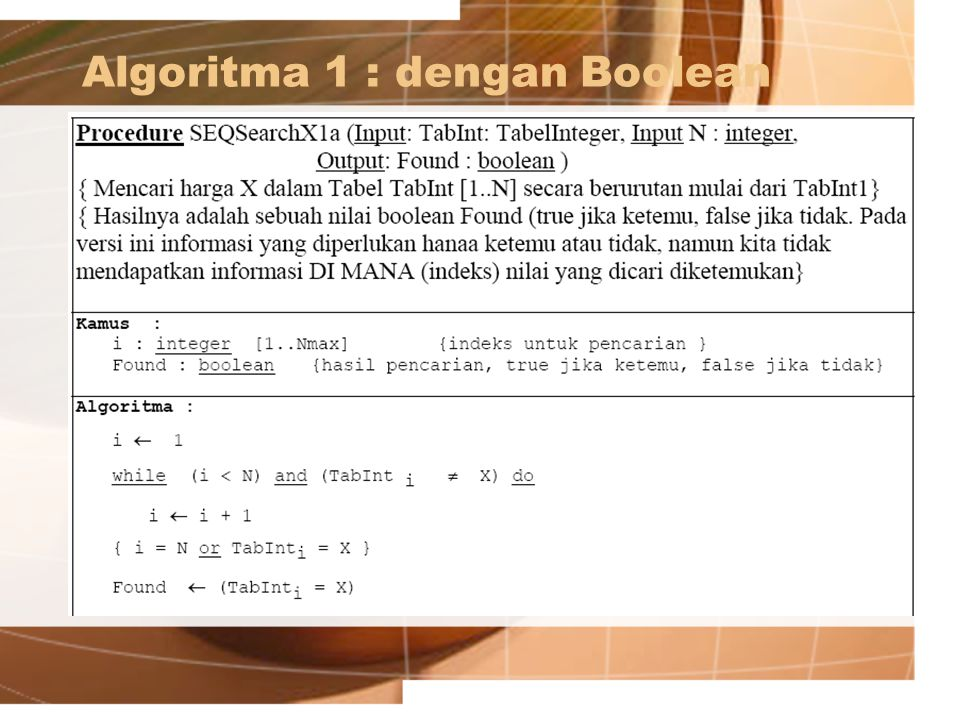 Algoritma 2: Seq. Search ver.2