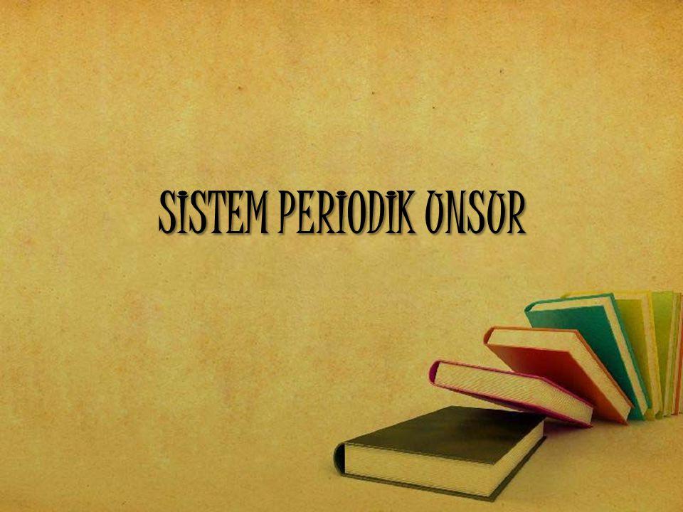 PERIODE Lajur-lajur horisontal dalam sistem periodik Sistem periodik modern terdiri dari 7 periode.