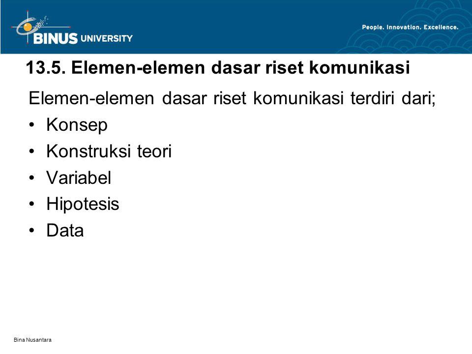 Bina Nusantara 13.6.Metodologi 13.6.1.