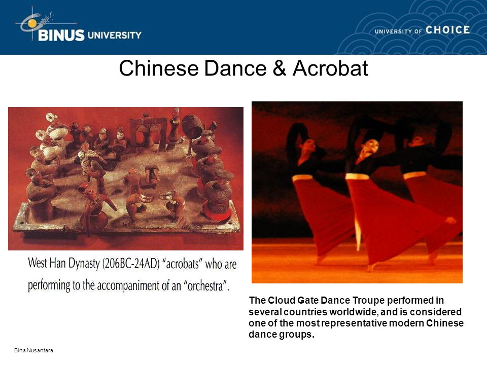 Chinese Dance & Acrobat The Cloud Gate Dance Troupe performed in several countries worldwide, and is considered one of the most representative modern Chinese dance groups.