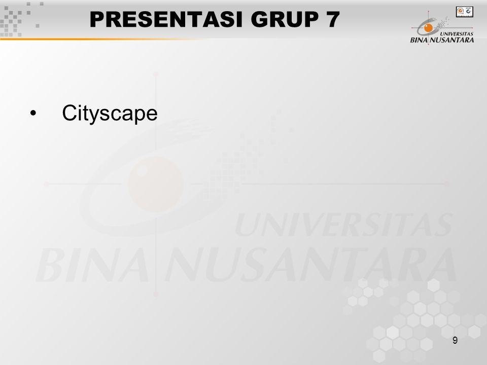 9 PRESENTASI GRUP 7 Cityscape