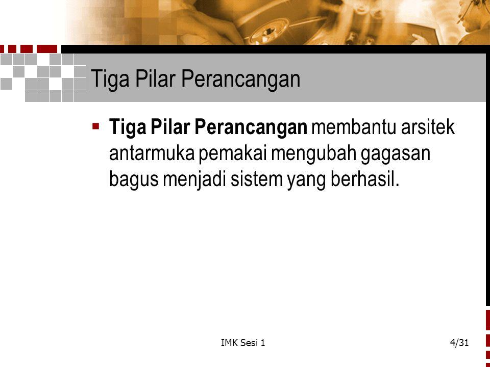 IMK Sesi 15/31 Tiga Pilar Perancangan ( Lanj. )