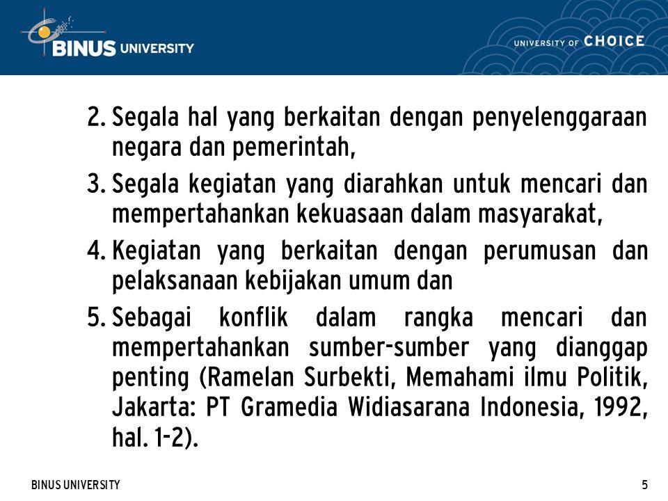 BINUS UNIVERSITY16 5.4.