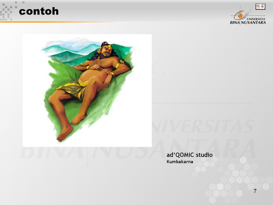 7 contoh ad'QOMiC studio Kumbakarna