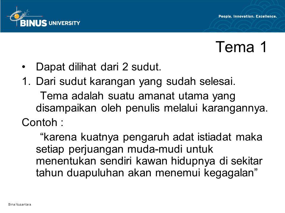 Bina Nusantara Pola Penyusunan II.Pola Logis - Urutan klimaks dan anti klimaks.