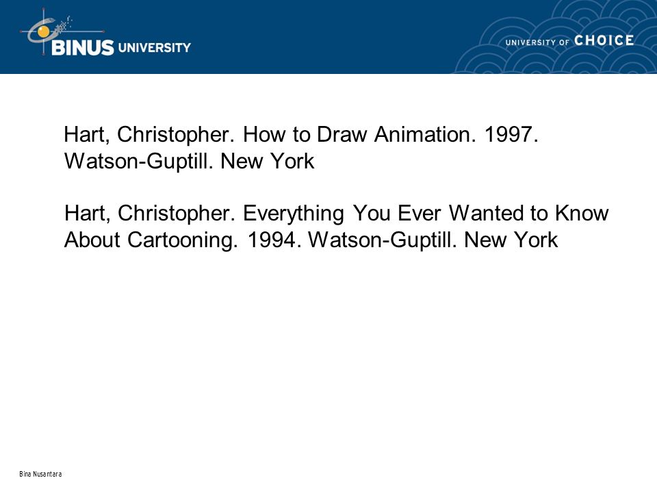 Hart, Christopher. How to Draw Animation. 1997. Watson-Guptill.