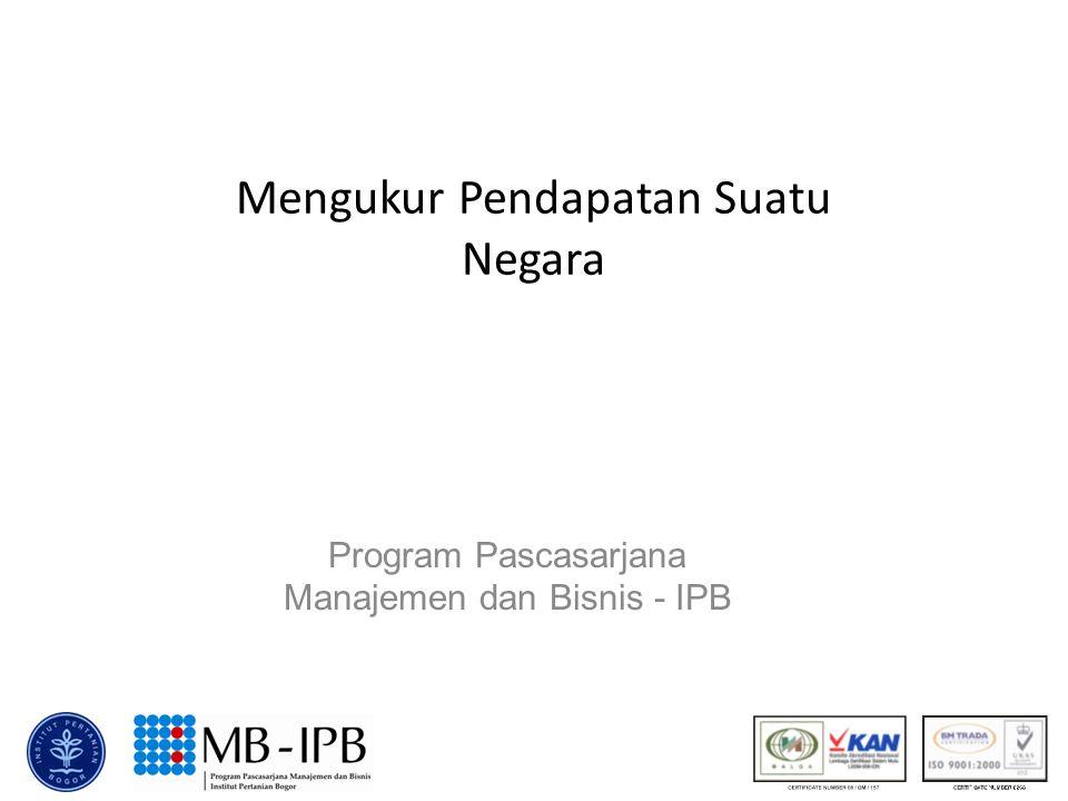 Mengukur Pendapatan Suatu Negara Program Pascasarjana Manajemen dan Bisnis - IPB