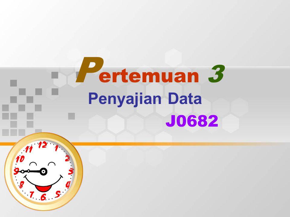 P ertemuan 3 Penyajian Data J0682