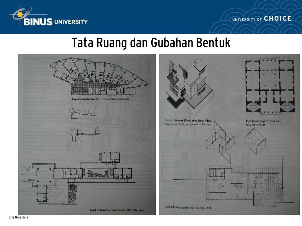 Bina Nusantara Tata Ruang dan Gubahan Bentuk