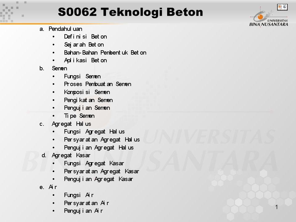 1 S0062 Teknologi Beton