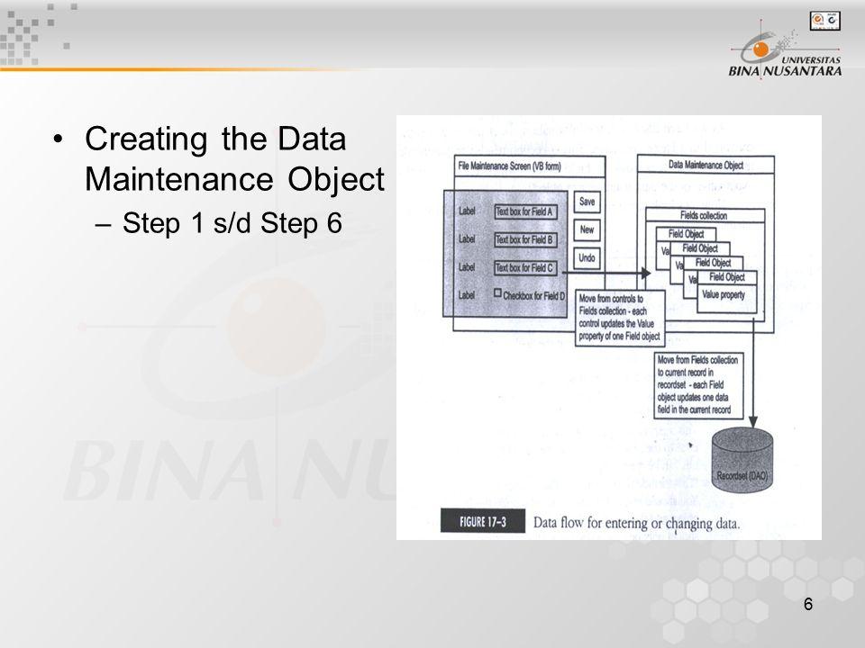 7 Data Maintenance Object