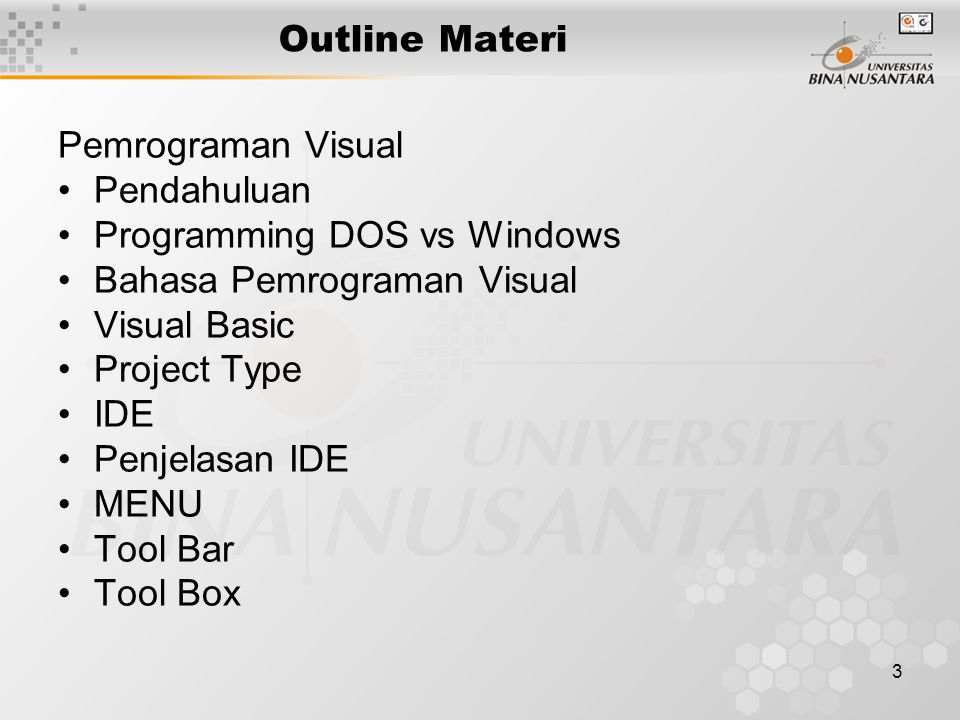 4 Pendahuluan History Classifikasi Definisi Formal Spesifikasi General karakteristik Windows : –GUI –Graphically based –Multiple ways to do things –User-driven –Device independence –Event oriented –Mouse is critical –Multi-tasking