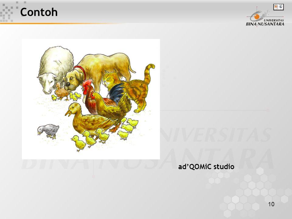 10 Contoh ad'QOMiC studio