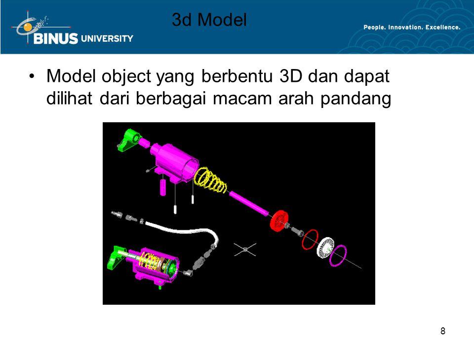8 3d Model Model object yang berbentu 3D dan dapat dilihat dari berbagai macam arah pandang