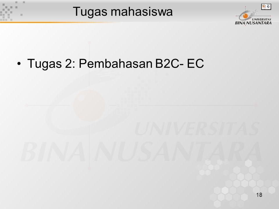 18 Tugas mahasiswa Tugas 2: Pembahasan B2C- EC